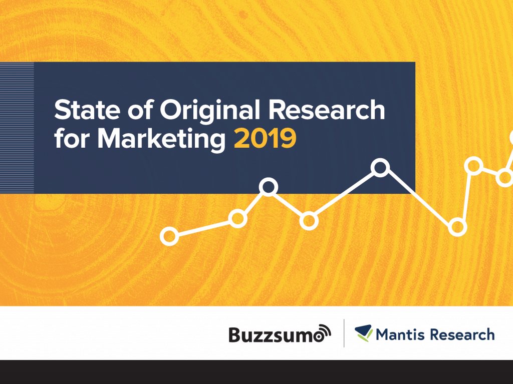 State of Original Research for Marketing in 2019